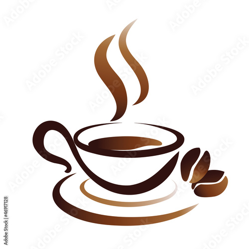 vector sketch of coffee cup, icon - 46917128