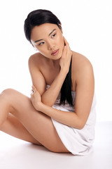 Beautiful serene Asian woman