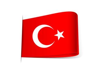 Türk Bayrağı Etiket