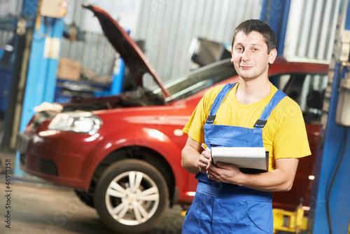 Repairman auto mechanic inspector