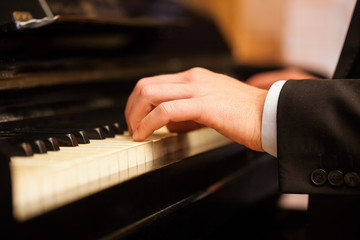 Man playing piano