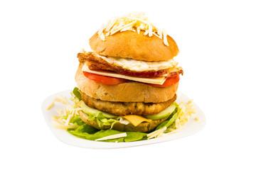 Closeup of sandwich