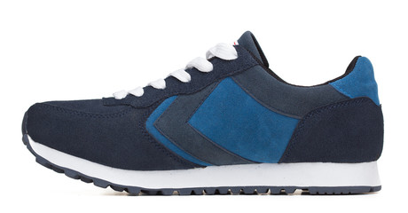 Blue Shoe on White
