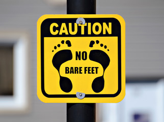 No Bare Feet Sign