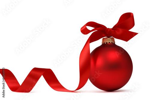 Christmas ball with ribbon - 46920710