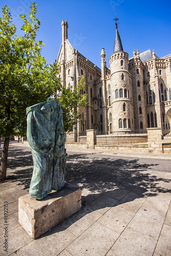 Holy Week Monument opposite the Palace of Gaudi, Astorga, Leon.