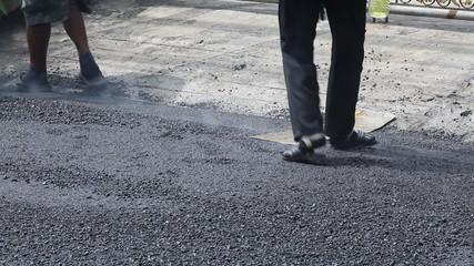 Repair of road