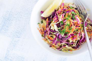 Fresh coleslaw salad for summer