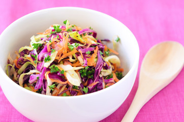 Fresh coleslaw salad for summer