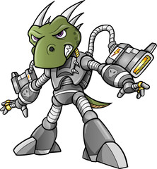 Cyborg Alien Soldier Warrior Vector