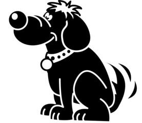 chien, profil, personnage, amour, bonheur, poils, médaille