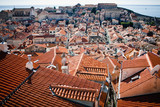 Looking across the rooftops of Dubrovnik, Croatia