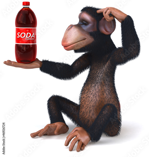 Monkey and soda