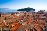 Dubrovnik old town over the roofs
