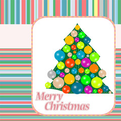 christmas (new year) tree on vintage background