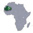Afrikakarte Mauretanien