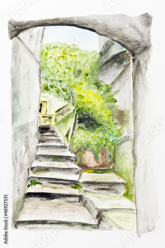 arch and ladder