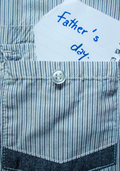 Cloth note of Father's day