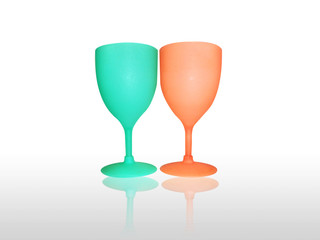 Two colors wine glass