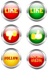 social media or network button set