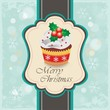 Christmas cupcake card