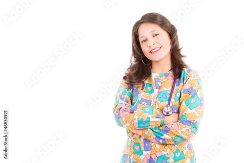 Female doctor pediatrician