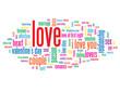 """LOVE"" Tag Cloud (love card heart romance valentine's day)"