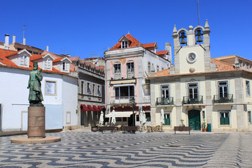 Main square in Cascais, Portugal