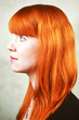 Profil of an Red Haired Woman