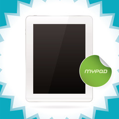 Tablet Pad, Ipad - style gadget Illustration, Sign, Sticker
