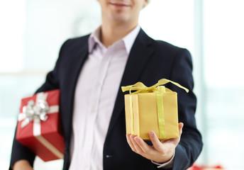 Giving xmas present
