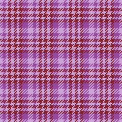 Seamless texture of purple wool fabric comprised by threads
