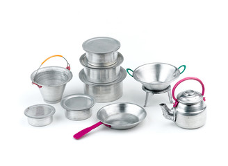 Minimizes size toys tin for kid isolated