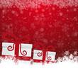 gift snowflake snow stars red white background