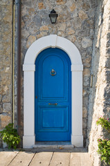 Wooden door. Maratea. Basilicata. Italy.