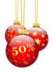 Rabatt, 50 %, Fünfzig Prozent, Weihnachten, Werbung, Dekoration
