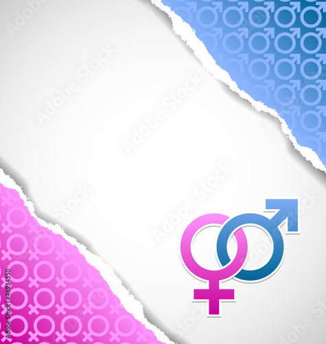 Venus and Mars female and male symbol document template