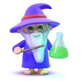 Wizard creates a magic potion