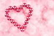 Herz auf rosa