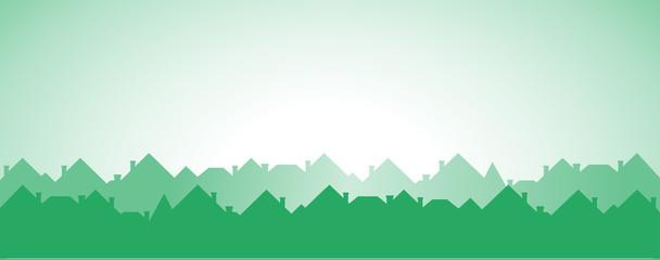 green cottage background - development symbol