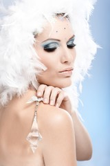 Luxurious beauty with crystal jewel