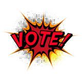 Vote. Comic book explosion.
