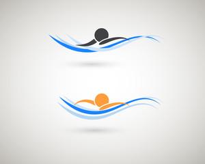 Sport icons. Swimming symbol.