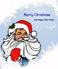 Merry christmas,новогодняя открытка