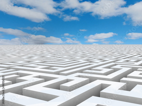 Labyrinth 3D white