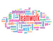 """TEAMWORK"" Tag Cloud (management goals targets performance team)"