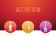 vector icon set music color