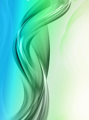 Elegant green fractal wave