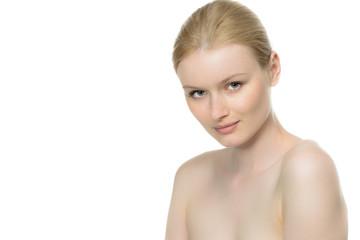 blonde natürliche junge frau