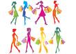 Shopping girls silhouettes